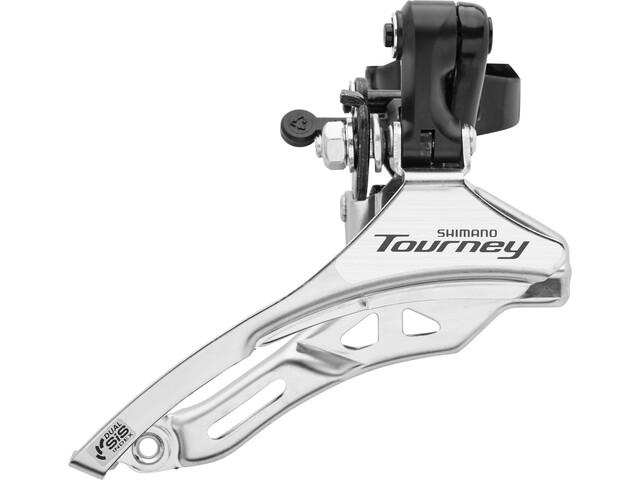 Shimano Tourney FD-TY300 Forskifter høj 3x6-/7-speed Top Pull sort/sølv (2019) | Front derailleur